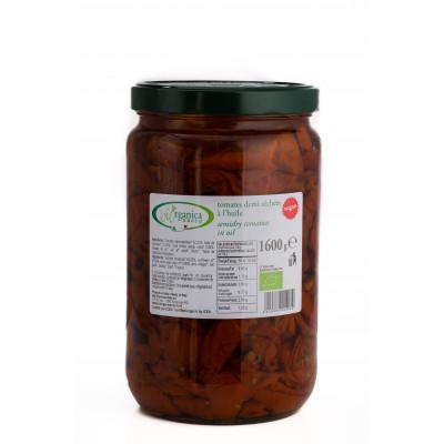 Tomates demi-séchées biologiques